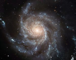 "This Hubble image reveals the gigantic Pinwheel galaxy, one of the best known examples of ""grand design spirals"", and its supergiant star-forming regions in unprecedented detail. The image is the largest and most detailed photo of a spiral galaxy ever rel"