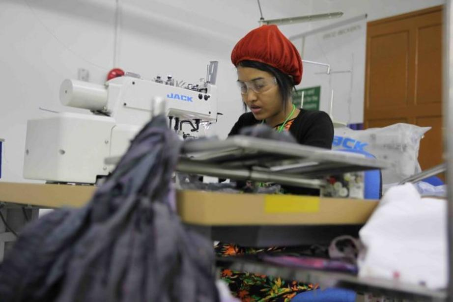 Women work for around $3.40 a day in Myanmar's factories.