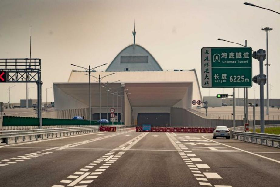 The world's longest undersea tunnel was constructed to ensure export ships were not impeded by the bridge.